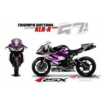 RSX kit déco racing TRIUMPH DAYTONA 675 KLR-R 13-