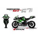 RSX kit déco racing TRIUMPH DAYTONA 675 KLR-R 06-12