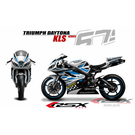 RSX kit déco racing TRIUMPH DAYTONA 675 KLS 13-