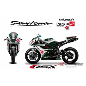 RSX kit déco racing TRIUMPH DAYTONA 675 PARKINGO 06-12