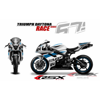 RSX kit déco racing TRIUMPH DAYTONA 675 RACE 06-12