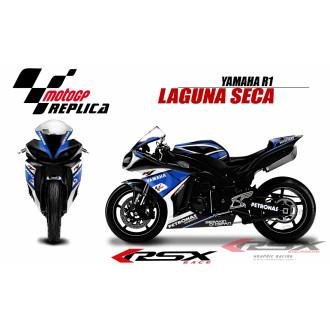 RSX kit déco racing YAMAHA R1 LAGUNA SECA 09-14