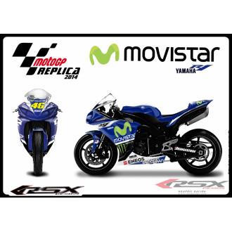 RSX kit déco racing YAMAHA R1 MOVISTAR ROSSI 09-14