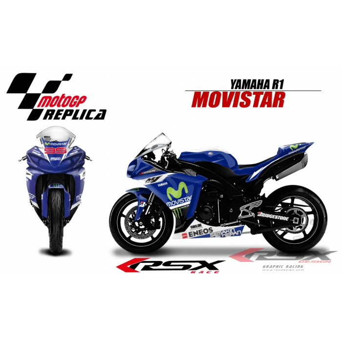 RSX kit déco racing YAMAHA R1 MOVISTAR LORENZO 09-14