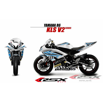 RSX kit déco racing YAMAHA R6 KLS V2 08-