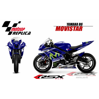 RSX kit déco racing YAMAHA R6 MOVISTAR 08-