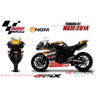 RSX kit déco racing YAMAHA R1 NGM FORWARD 09-14