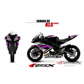 RSX kit déco racing YAMAHA R6 KLS 08-
