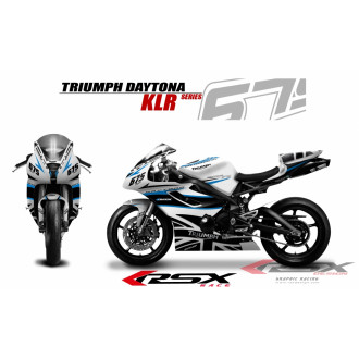 RSX kit déco racing TRIUMPH DAYTONA 675 KLR 06-12