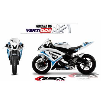 RSX kit déco racing YAMAHA R6 VERTIGO 08-