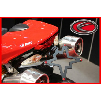 EVOTECH SUPPORT DE PLAQUE D'IMMATRICULATION DUCATI 620/1000 MONSTER 03-06