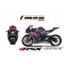RSX kit déco racing HONDA CBR1000 PRACTICE base noir 08-11