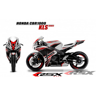 RSX kit déco racing HONDA CBR1000 KLS base blanc 08-11