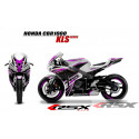 RSX kit déco racing HONDA CBR1000 KLS base blanc 08-11