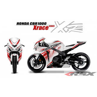 RSX kit déco racing HONDA CBR1000 XRACE base blanc 08-11