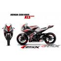 RSX kit déco racing HONDA CBR1000 KLR base blanc 08-11