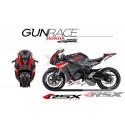 RSX kit déco racing HONDA CBR1000 GUNRACE base noir 08-11