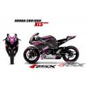 RSX kit déco racing HONDA CBR1000 KLS base noir 08-11