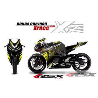 RSX kit déco racing HONDA CBR1000 XRACE base noir 08-11