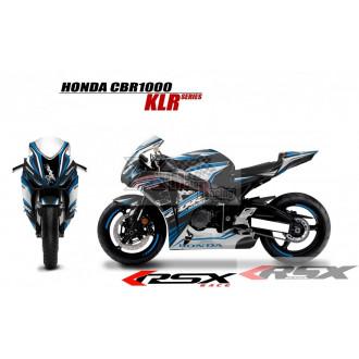 RSX kit déco racing HONDA CBR1000 KLR base noir 08-11