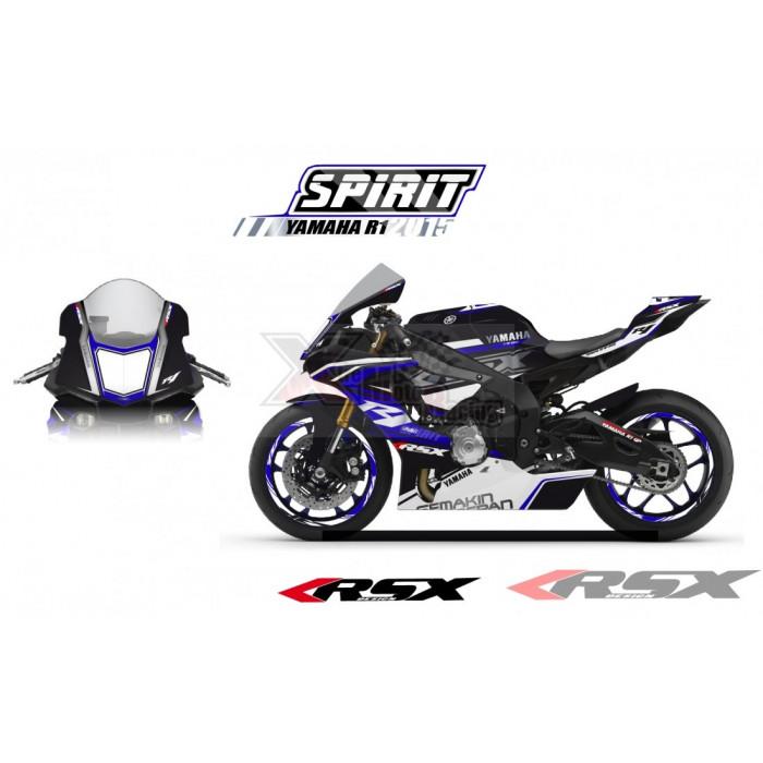 RSX kit déco racing YAMAHA R1 SPIRIT base blanc 15-