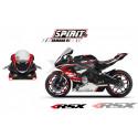 RSX kit déco racing YAMAHA R1 SPIRIT base noir15-