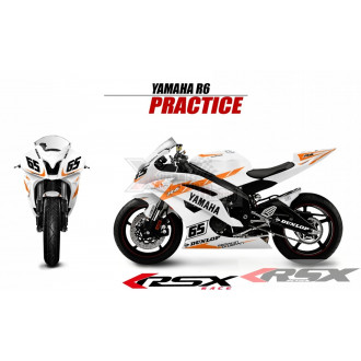 RSX kit déco racing YAMAHA R6 PRACTICE V2