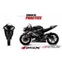 RSX kit déco racing YAMAHA R6 PRACTICE base noir 08-
