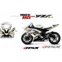 RSX kit déco racing YAMAHA R6 RACE base blanc 08-