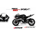 RSX kit déco racing YAMAHA R6 RACE base noir 08-