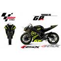 RSX kit déco racing YAMAHA R6 RACE base noir 08-