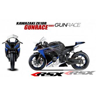 RSX kit déco racing KAWASAKI ZX10R GUNRACE base noir 11-