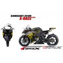 RSX kit déco racing KAWASAKI ZX10R X-RACE base noir 11-