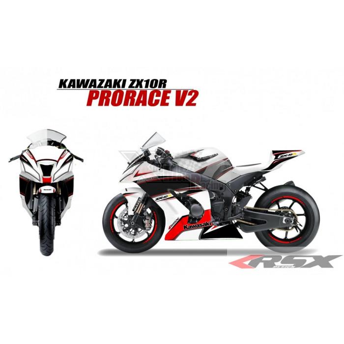 RSX kit déco racing KAWASAKI ZX10R PRORACE V2 11-