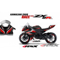 RSX kit déco racing KAWASAKI ZX6R RACE base noir 13-