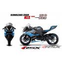 RSX kit déco racing KAWASAKI ZX6R KLS base noir13-