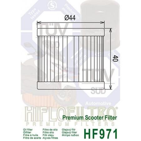 HIFLOFILTRO filtre a huile HF971