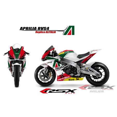 RSX kit déco racing APRILIA RSV4 ALITALIA