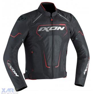 IXON ZEPHYR HP blouson textile H NOIR / BLANC / ROUGE