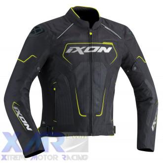 IXON ZEPHYR HP blouson textile H NOIR / BLANC / JAUNE VIF