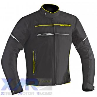 IXON ZETEC HP blouson textile H NOIR / JAUNE VIF