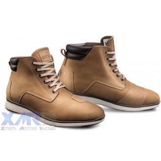 IXON AKRON bottines cuir/textile H MOKA