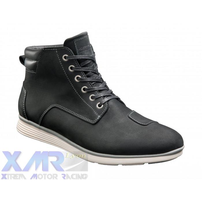 IXON AKRON bottines cuir/textile H NOIR