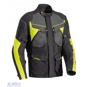 IXON CROSSTOUR HP veste textile H NOIR / GRIS / JAUNE VIF