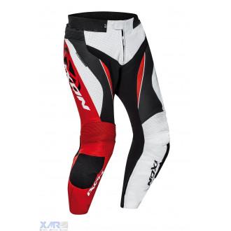 IXON FALCON PT pantalon cuir H BLANC / NOIR / ROUGE