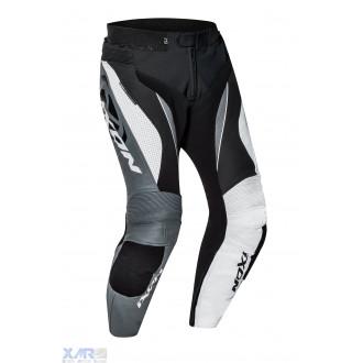 IXON FALCON PT pantalon cuir H NOIR / BLANC / GRIS