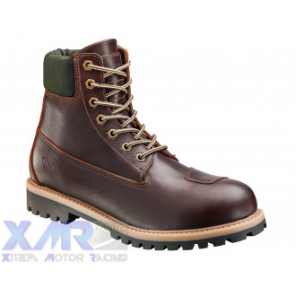 IXON MUD bottines cuir/textile H MARRON