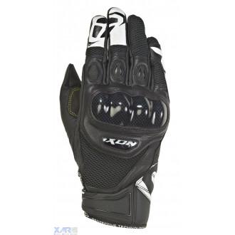 IXON RS RECON AIR gant ete cuir/textile H NOIR / BLANC