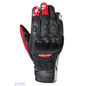 IXON RS RECON AIR gant ete cuir/textile H NOIR / BLANC / ROUGE