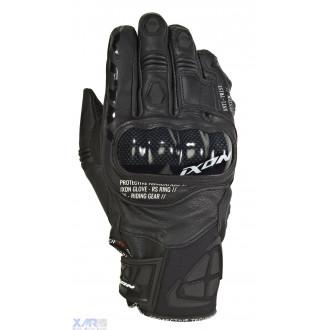 IXON RS RING gant ete cuir/textile H NOIR